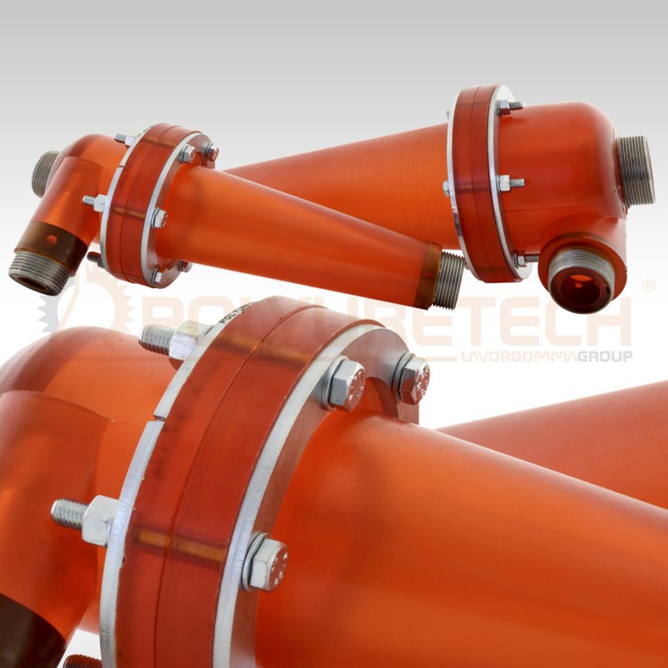 Idrociclone in poliuretano per separazione liquidi